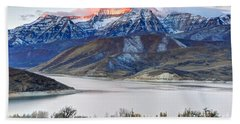 Mt. Timpanogos Winter Sunrise Beach Towel