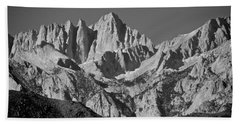 Mt. Whitney In Black And White Beach Towel