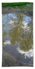 Mudpuddle Reflection Beach Sheet