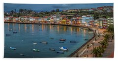Mugardos Panorama Galicia Spain Beach Towel