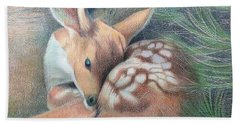 Mule Deer Fawn Beach Towel