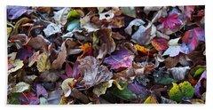 Multicolored Autumn Leaves Beach Sheet