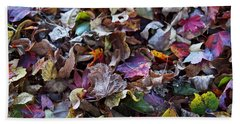 Multicolored Autumn Leaves Beach Towel