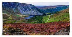 Multicolored Carpet Of Wicklow Hills. Ireland Beach Towel
