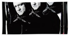 Beach Towel featuring the photograph Multiple Johnny Cash Sitting Old Tucson Arizona 1971-2008 by David Lee Guss