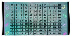 Multiplication Chart Beach Towel