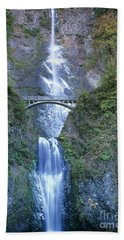Beach Towel featuring the photograph Multnomah Falls Columbia River Gorge by Dave Welling