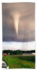Mulvane Tornado With Storm Chasers Beach Sheet by Jason Politte