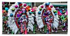 Mummer Color Beach Towel by Alice Gipson