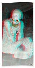 Mummy Dearest - Use Red-cyan Filtered 3d Glasses Beach Towel