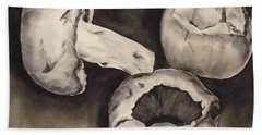 Beach Sheet featuring the painting Mushrooms by Donna Tuten