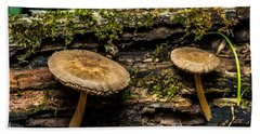 Mushrooms In The Forest Beach Towel