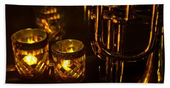 Trumpet And Candlelight Beach Towel