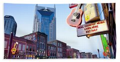 Music City Usa Beach Towel