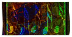 Music Is Magical Abstract Healing Art Beach Towel