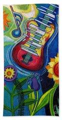 Music On Flowers Beach Sheet
