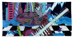 Music On The River Stl Style Beach Towel