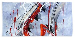 Musical Abstract 005 Beach Towel