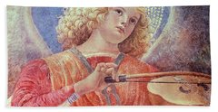 Musical Angel With Violin Beach Towel