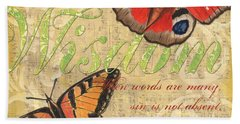 Musical Butterflies 4 Beach Towel