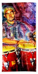 Musician Congas And Brick Beach Sheet