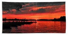 Muskoka Sunset Beach Towel
