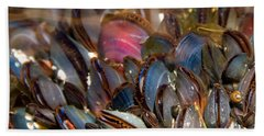Mussels Underwater Beach Sheet by Peggy Collins