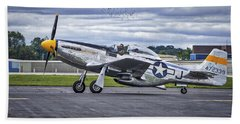 Mustang P51 Beach Towel