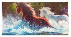 Mustang Splash Beach Towel