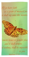 Mustard Seed Faith Beach Towel by Larry Bishop