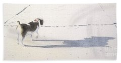 My Dog Beach Towel by Yoshiko Mishina