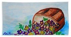 My Flower Basket Beach Sheet