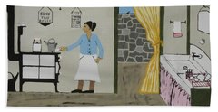 Beach Towel featuring the painting Coal Miners Wife by Jeffrey Koss