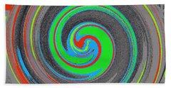 Beach Towel featuring the digital art My Hurricane by Catherine Lott