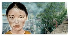 My Kuiama A Young Vietnamese Girl Version II Beach Sheet