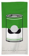 My Mario Warhols Minimal Can Poster-luigi Beach Towel
