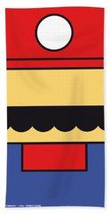My Mariobros Fig 01 Minimal Poster Beach Towel