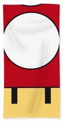 My Mariobros Fig 05a Minimal Poster Beach Towel