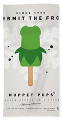 My Muppet Ice Pop - Kermit Beach Towel by Chungkong Art