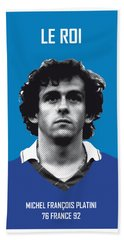 My Platini Soccer Legend Poster Beach Towel by Chungkong Art