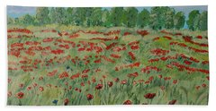 My Poppies Field Beach Sheet