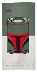 My Star Warhols Boba Fett Minimal Can Poster Beach Towel by Chungkong Art