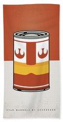 My Star Warhols Luke Skywalker Minimal Can Poster Beach Towel