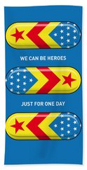 My Superhero Pills - Wonder Woman Beach Towel