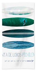 My Surfspots Poster-3-punta De Lobos-chile Beach Towel