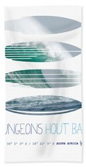My Surfspots Poster-4-dungeons-cape-town-south-africa Beach Towel