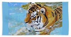 My Water Tiger Beach Sheet by Phyllis Kaltenbach