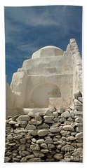 Beach Towel featuring the photograph Mykonos Church by Vivian Christopher