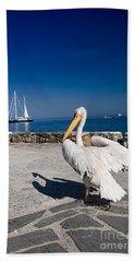 Mykonos Pelican Beach Towel
