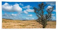 Beach Towel featuring the photograph Mynydd Hiraethog by Adrian Evans